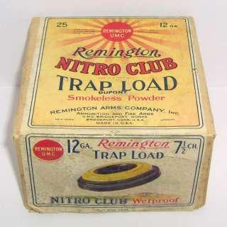 1922 REMINGTON NITRO CLUB TRAP LOAD 2 PIECE 12 GA EMPTY SHOTGUN
