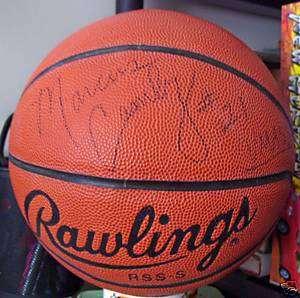 UMASS NCAA AUTOGRAPHED BASKETBALL MARCUS CAMBY NBA