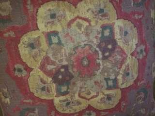 Schumacher Print Linen Fabric Custom Designer Throw Pillows Brown Red
