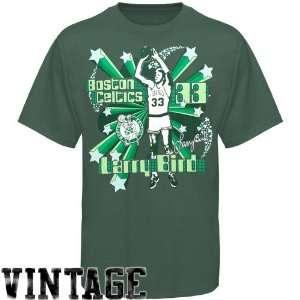 NBA Boston Celtics Larry Bird Green Respected Hardwood