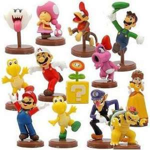 13 Super Mario Bros. Character Mini Figure Set Everything