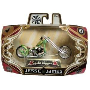 Jesse James West Coast Choppers Gold Digger Green Toys