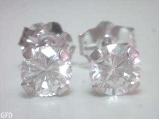 50 CT G VS2 HIGH QUALITY DIAMOND STUD EARRINGS 14KT SOLID WHITE GOLD
