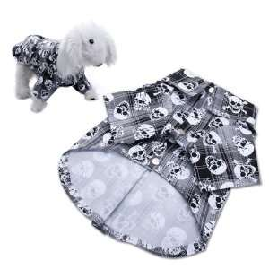Dog Clothes Puppy Apparel Shirt with Skull Pattern   S: Pet Supplies