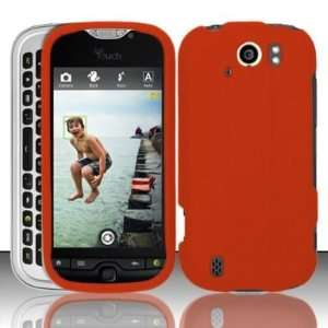 Orange Rubberized Snap on Protective Cover Case for HTC myTouch Slide