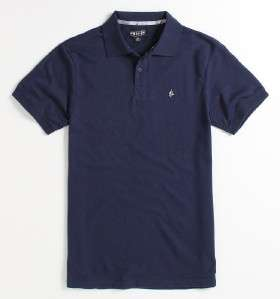 Volcom Stone The Club Pique Mens Navy Blue Polo Shirt New NWT