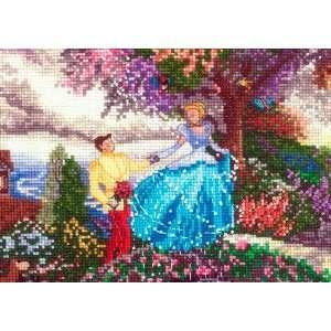 Thomas Kinkade Cinderella Vignet 5X7 18 Count: Arts, Crafts & Sewing