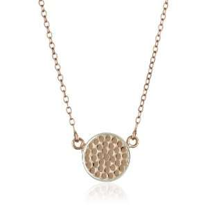 Anna Beck Designs Bali 18k Rose Gold Plated Disk Necklace