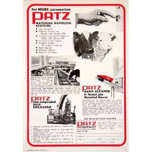 1968 Ad Patz Barn Cleaner Pound Wisconsin Livestock Cattle