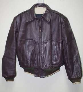 MENS VTG A2/FLIGHT HORSEHIDE/LEATHER COAT/JACKET sz M