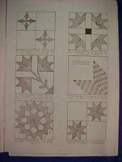 28 Vintage Antique Quilt Patterns Templates Book Design
