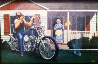 David Mann Art Lawn Sprinkler Easyriders Print Harley Davidson H D HD