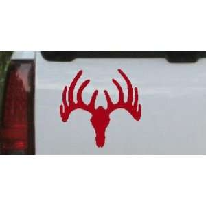 Deer Skull Mount Hunting And Fishing Car Window Wall Laptop Decal