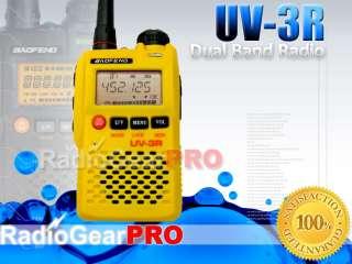 Yellow UV 3R BAOFENG VHF/UHF DUAL BAND HAM 2 way RADIO
