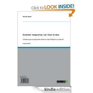 Christlicher heiliger Krieg und Jihad im Islam (German Edition