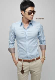 Mens Slim Fit Dress Shirt Mosaic Pink/Blue/Black/White