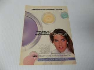 Old 1pg Covergirl ad Carol Alt ad clipping #M2
