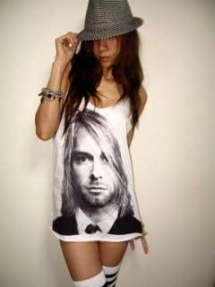 Kurt Cobain Nirvana Grunge Rock Alternative T Shirt Tank Top M