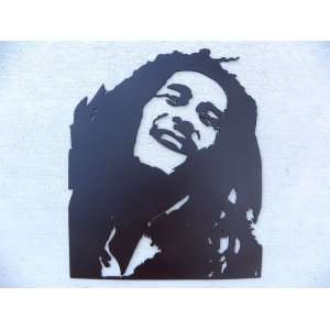 Bob Marley Silhouette Black Metal Wall Art Home Decor