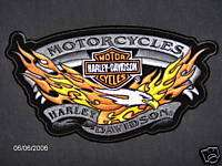 HARLEY DAVIDSON EAGLE WITH FLAMES EMBLEM LG