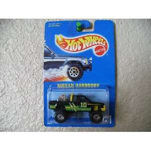 Hot Wheels Nissan Hardbody 1991 # 131 All Blue Card Black