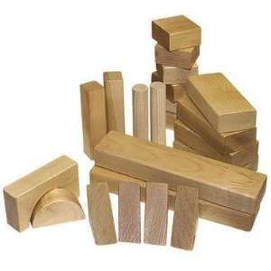 28 Piece Classic Wood Block Set Made in USA: Toys & Games