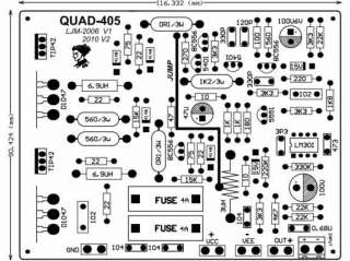 QUAD405 Stereo Audio Power Amplifier Board Assembled