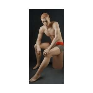 Realistic Sitting Male Mannequin GZM1 Arts, Crafts