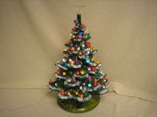 MUSICAL 19 CERAMIC CHRISTMAS TREE LIGHTED UNIQUE BUTTERFLIES