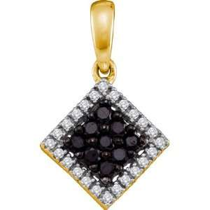 Designer Jewelry Gift 10K Yellow Gold 0.29Ctw Diamond Fashion Pendant