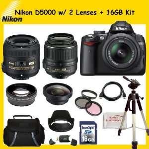 with Nikon 18 55mm f/3.5 5.6G VR AF S DX Nikkor Lens & Nikon 40mm f/2