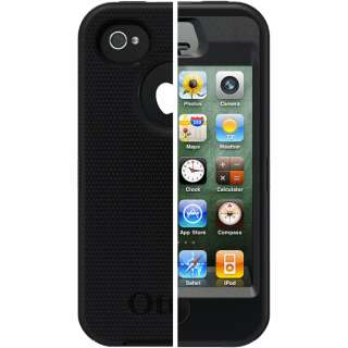 Otter Box Defender Case for iPhone 4/4S (BLACK) With BELT CLIP &Screen