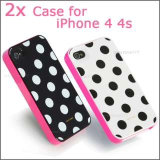 Dots 3in1 Case Cover for Apple iPhone 4 4s Screen Protector