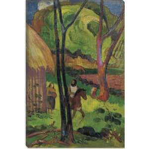 Cavalier Devant La Case 1902 by Paul Gauguin Canvas