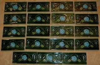 Lineal Feet Antique Art Nouveau 6 x 3 Accent Tiles 19 Tiles