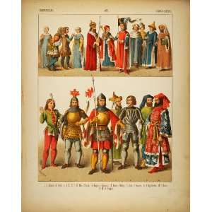 1882 Costume German Medieval Knights Armor Emperor