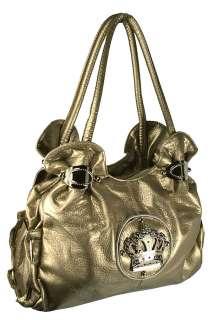Ladies Faux Leather Crown Royal Shoulder Hand Bag