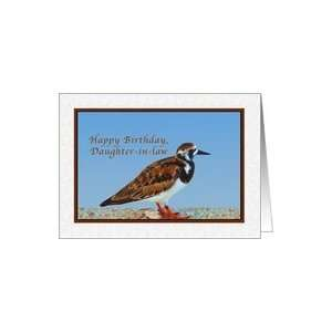 , Daughter in law, Ruddy Turnstone Bird Card: Health & Personal Care