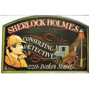 Large Postcard Sherlock Holmes 221b Baker Street