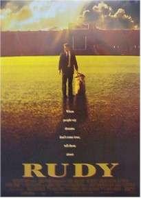 RUDY (Sean Astin) NOTRE DAME FOOTBALL MOVIE POSTER