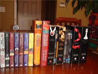 Collectors Twilight Saga DVD Books True Blood Books Lot of 17