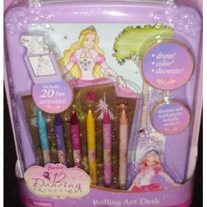 Barbie Rolling Art Desk Set: Toys & Games