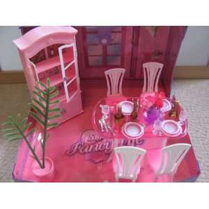 Dining Room on Barbie Size Dollhouse Furniture Dining Room With Handbag