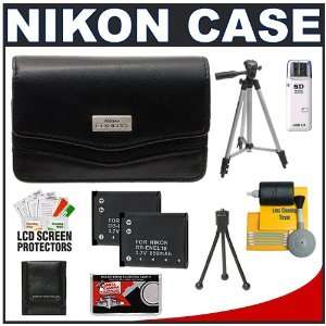Nikon Coolpix 11632 Leather Digital Camera Case Bag + (2