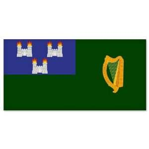 Dublin City Flag car bumper sticker window decal 5 x 5