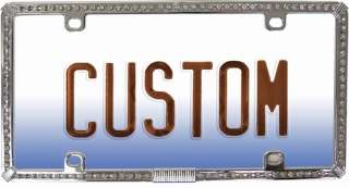 CHROME DIAMOND LICENSE PLATE FRAME HUGE BLING FOR THE $