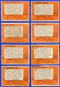 1956 Topps Davy Crockett Complete 80 cards set. The set averages ex/ex