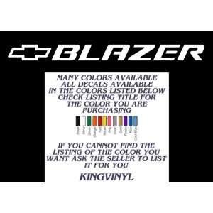 ... Chevy Blazer decal 36 (white)  Automotive ... b9213a22ba