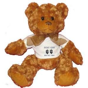 BASSET HOUND MANS BEST FRIEND Plush Teddy Bear with WHITE