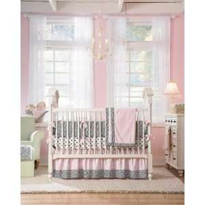 Wendy Bellissimo Black Medallion 3 Piece Crib Bedding Set: Baby